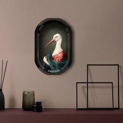 Plateau-tableau La cigogne, collection Les Fables Ibride, H.46 x L.31 cm