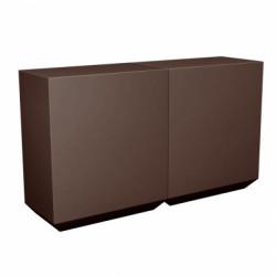 Banque d\'accueil Line, élément droit 2m, Proselec bronze Mat