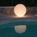Lampe d'extérieur Globo Out , Slide Design blanc Diamètre 30 cm