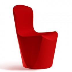 Chaise Zoe, Slide Design rouge