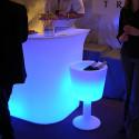 Seau à Champagne lumineux Drink, Slide Design blanc