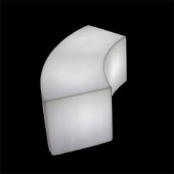Table/Banc design Snake In, Slide Design blanc