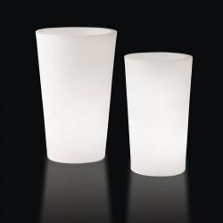 Grand X-pot lumineux, Slide Design blanc Hauteur 120 cm