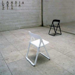Chaise pliante Bek Casamania blanc
