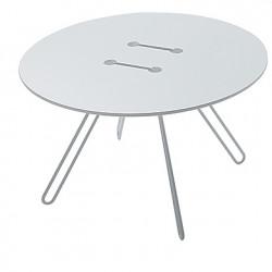 Table deco Twine, Casamania blanc, structure blanc, 70cm