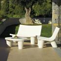 Fauteuil Low Lita, Slide Design blanc