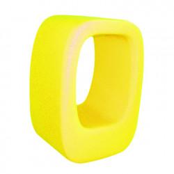 Tabouret/Table basse Lasy Bones, Slide Design jaune
