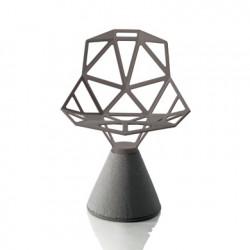 Chaise design One, Magis gris anthracite métallisé, base gris bét