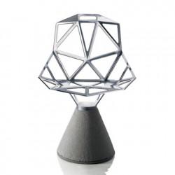 Chaise design One, Magis aluminium poli, base gris béton verni