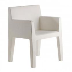 Chaise avec accoudoirs indoor outdoor Jut Vondom blanc