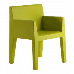 Chaise avec accoudoirs indoor-outdoor Jut Vondom vert
