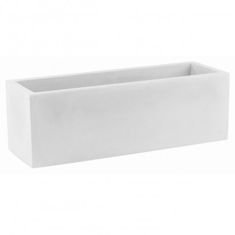 Jardinière design rectangulaire 80 cm blanc, Jardinera 80, Vondom, simple paroi, Longueur 80x30xH30 cm