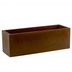 Jardinière rectangulaire grande taille Jardinera bronze, Vondom, simple paroi, Longueur 120x50xH50 cm