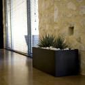Jardinière rectangulaire grande taille, noir, avec système de réserve d'eau, Vondom, Longueur 120x50xH50 cm