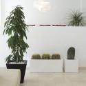 Jardinière rectangulaire grande taille, bronze, avec système de réserve d'eau, Vondom, Longueur 120x50xH50 cm