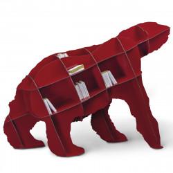 Bibliothèque Joe ours, Ibride rouge brillant