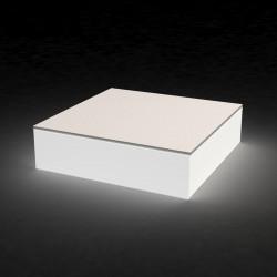 Table basse lumineuse Quadrat, Vondom blanc Petit modèle