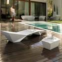 Chaise longue design Faz, Vondom, blanc