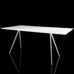 Baguette, grande table à manger design, Magis blanc 205x85 cm