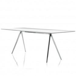 Baguette, grande table à manger design, Magis verre transparent 160x85 cm