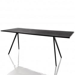 Baguette, grande table à manger design, Magis gris ardoise, noir 160x85 cm