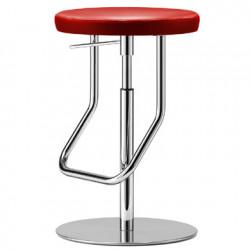 S123PH Tabouret de bar réglable, Thonet rouge, structure chrome