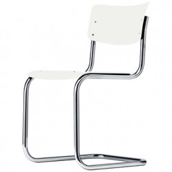 S43 Chaise luge Cantilever, Thonet blanc