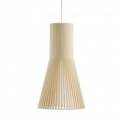 Suspension design Secto 4201, Secto Design, bois naturel, hauteur 45 cm