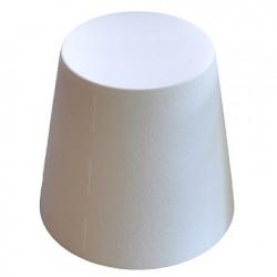 Ali Baba, tabouret design, Slide Design blanc, hauteur d\'assise 43 cm