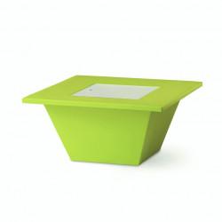Table basse Bench, Slide design vert
