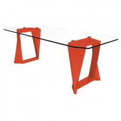Table Iso, Qui est paul ? orange L220cm