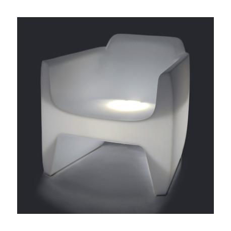 Fauteuil lumineux Translation Indoor, Qui est Paul? blanc