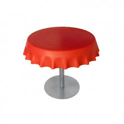 Fizzz, table basse ronde design, Slide Design rouge
