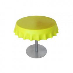 Fizzz, table basse ronde design, Slide Design jaune