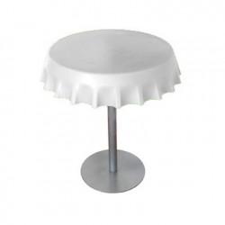 Fizzz, table medium ronde design diamètre 70 cm, Slide Design blanc