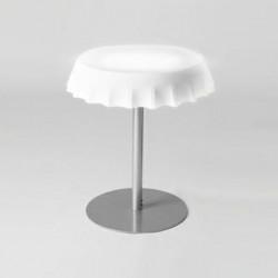 Fizzz, table medium lumineuse diamètre 70 cm, Slide Design blanc