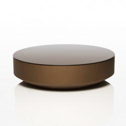 Table basse design ronde Vela diamètre 120cm, Vondom bronze