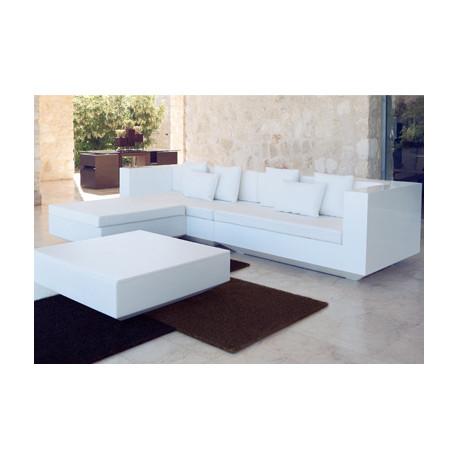 Salon Vela : canapé + pouf + table basse, Vondom blanc