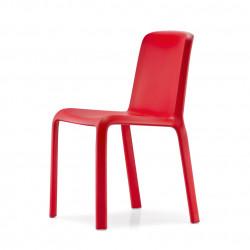 Lot de 4 chaises Snow 300, Pedrali rouge