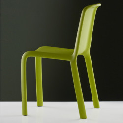 Lot de 4 chaises Snow 300, Pedrali vert