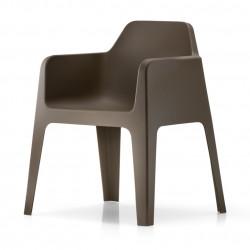 Plus 630 fauteuil, Pedrali marron