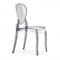 Queen 650 chaise design, Pedrali fumé