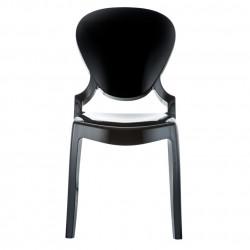 Queen 650 chaise design, Pedrali noir
