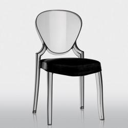 Queen 650.3, lot de 5 coussins pour chaise Queen 650, Pedrali noir