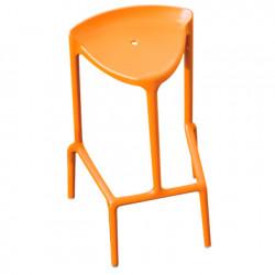 Lot de deux tabourets Happy 490, Pedrali orange