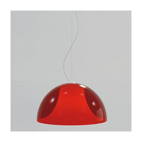Suspension L002S/BA, Pedrali rouge transparent / blanc