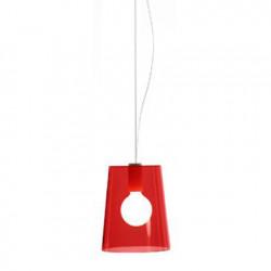 Suspension L001S/A, Pedrali rouge transparent