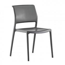 Lot de 4 chaises Ara 310, Pedrali gris anthracite