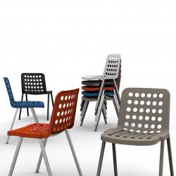 Koi-Booki 370 chaise, Pedrali bleu