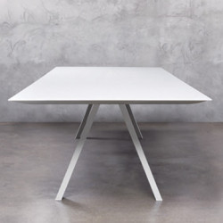 Arki, grande table design, Pedrali blanc 300x120 cm